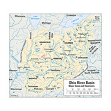Map Showing Route of Ohio River Basin Prints