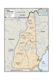 Physical Map of New Hampshire Prints
