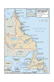 Map of Newfoundland and Labrador Prints