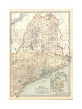 Map of Maine Print