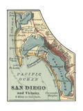 Map of San Diego Posters