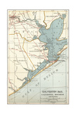 Map of Galveston Bay, Houston and Vicinity Posters