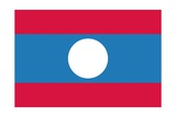 Flag of Laos Prints