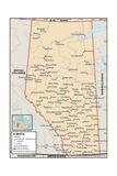 Political Map of Alberta Prints