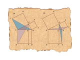Euclid Offered a Demonstration of the Pythagorean Theorem in His Elements Prints