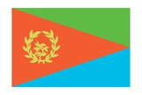 Historical Flag of Eritrea, a Country on the Horn of Africa, from 1993 to 1995 Posters