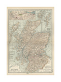 Map of Scotland Prints