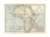 Map of Colonial Africa Prints
