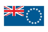 Flag of the Cook Islands, a Territory of New Zealand in the South Pacific Ocean Prints