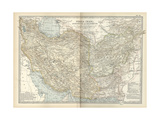 Map of Persia with Afghanistan and Baluchistan Poster