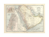 Map of Arabia with Part of Turkey and Oman Poster