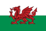 Flag of Wales, a Constituent Unit of the United Kingdom That Forms a Westward Extension Prints