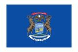 Michigan State Flag Prints