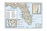 Political Map of Florida Print