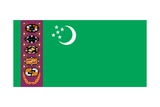 Historical Flag of Turkmenistan, a Country in Central Asia, from 1997 to 2001 Posters