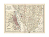 Map of Southern Illinois Prints