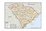 Map of South Carolina Prints