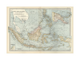 Map of East India Islands with New Guinea Affiches