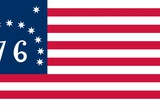 "Historical Flag of the United States of America, the Bennington, or ""76,"" Flag Print"