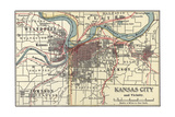 Map of Kansas City Poster