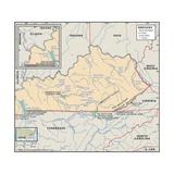 Physical Map of Kentucky Art