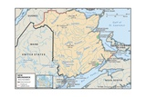 Map of New Brunswick Posters