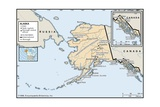 Political Map of Alaska Print