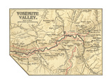 Map of Yosemite Valley Posters