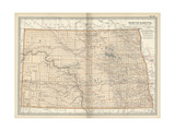 Map of North Dakota Posters