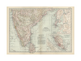 Map of Southern India with Bombay Prints