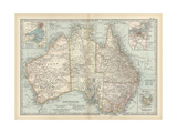 Map of Australia and Tasmania Prints