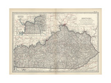 Map of Kentucky Prints