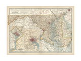 Map of Maryland and Delaware Art