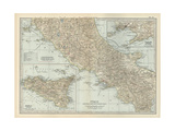 Map of Italy with Sicily and Naples Prints