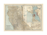Map of the Northern Part of California Print