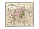 Map of Jerusalem Prints