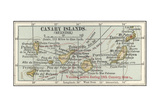 Map of the Canary Islands Print