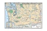 Map of Washington State Prints