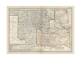 Map of Oklahoma and the Indian Territory Prints