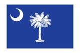 South Carolina State Flag Print