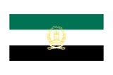 Historical National Flag of Afghanistan, a Country in Central Asia, from 1992 to 2001 Posters