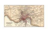 Map of Cincinnati Prints