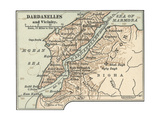Map of Dardanelles Posters