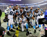 The Carolina Panthers Celebrate 2014 Playoff Action Photo