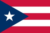Flag of Puerto Rico Print