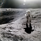 Astronaut Charles M. Duke, Jr., on Moon Papier Photo