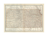 Map of Kansas Prints