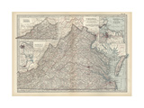 Map of Virginia Prints