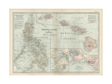 Map of Philippine Islands with Hawaii Prints