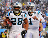 Jonathan Stewart & Cam Newton Touchdown Celebration 2014 Playoff Action Photo